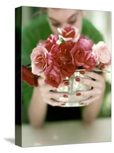 Vogue - June 1952 - Roses in Silver Bowl by John Rawlings