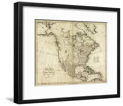 Map of North America, c.1796