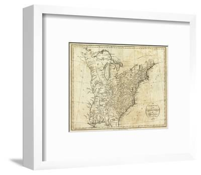Map of the United States of America, c.1796