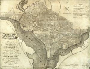 Plan of the City of Washington, c.1795 by John Reid