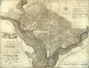 Plan of the City of Washington, c.1795 by John Reid