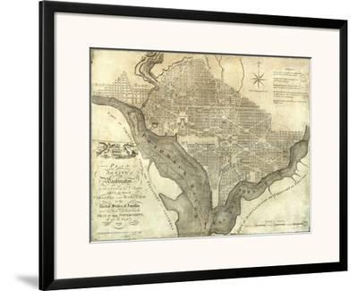 Plan of the City of Washington, c.1795