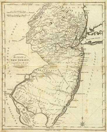 State of New Jersey, c.1796