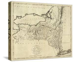 Maps of new york canvas artwork for sale posters and prints at art state of new york c1796 malvernweather Choice Image