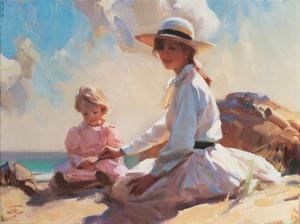 Summer On The Beach by John Richard Townsend