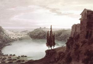 Lake Nemi, 18th Century by John Robert Cozens