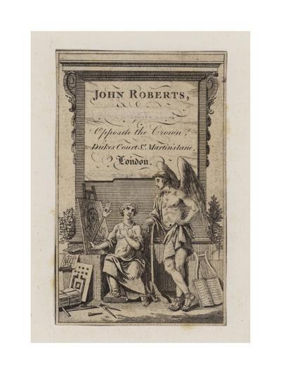 John Roberts, Trade Card--Giclee Print