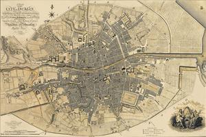 Map of Dublin, 1797 by John Rocque