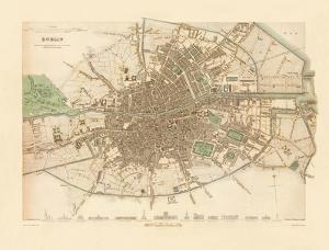 Map of Dublin, 1836 by John Rocque