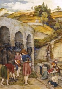 Charcoal Thieves by John Roddam Spencer Stanhope