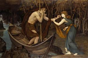 Charon and Psyche by John Roddam Spencer Stanhope