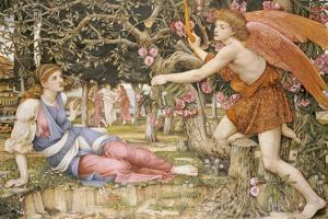 Die Liebe und das Mädchen (Love and the Maiden). 1877 by John Roddam Spencer Stanhope
