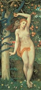 Eve Tempted, C.1877 by John Roddam Spencer Stanhope