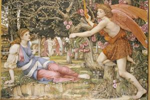 Love and the Maiden, 1877 by John Roddam Spencer Stanhope