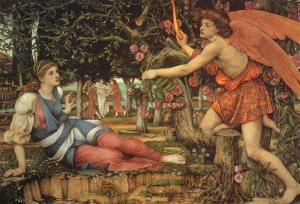 Love and the Maiden, 1900 by John Roddam Spencer Stanhope