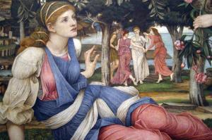 Love and the Maiden (Detail) by John Roddam Spencer Stanhope