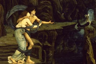 Orpheus and Eurydice on the Banks of the River Styx by John Roddam Spencer Stanhope