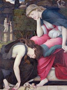 Patience on a Monument Smiling at Grief, Exh. 1884 by John Roddam Spencer Stanhope