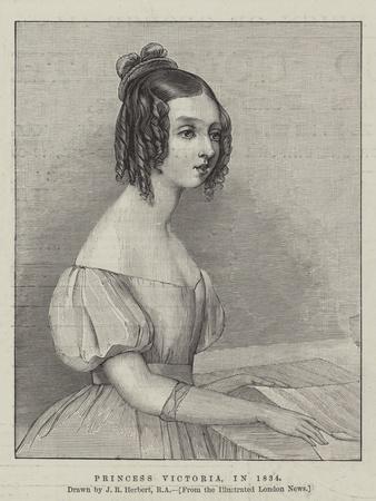 Princess Victoria, in 1834