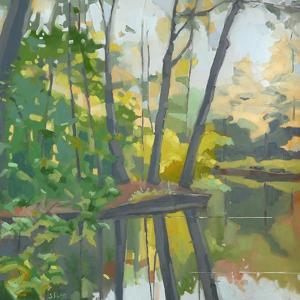 Wooded Pond by John Rufo