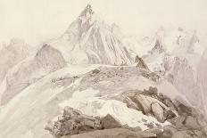 Moonlight, Chamonix, 1866 (W/C and Pencil on Paper)-John Ruskin-Premium Giclee Print