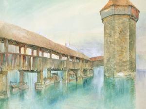 Kapelbrucke, Lucerne, 19th Century by John Ruskin