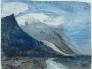 Moonlight, Chamonix, 1866 (W/C and Pencil on Paper) by John Ruskin
