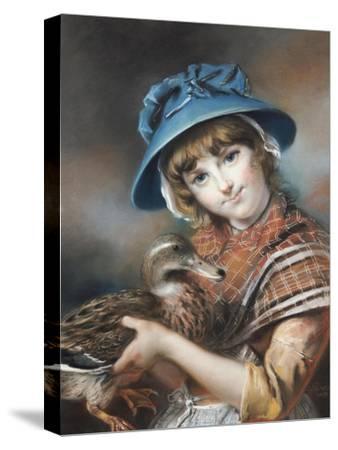 A Market Girl Holding a Mallard Duck, 1787