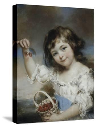 Petite fille aux cerises