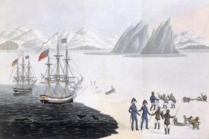 First Communication with the Natives of Prince Regent's Bay, 1818 by John Sackheouse