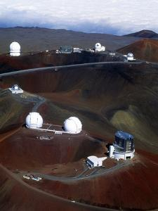 Aerial View of Observatories At Mauna Kea, Hawaii by John Sanford