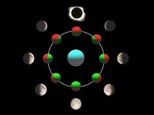 Composite Time-lapse Image of the Lunar Phases by John Sanford