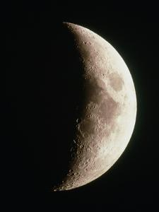Optical Image of a Waxing Crescent Moon by John Sanford