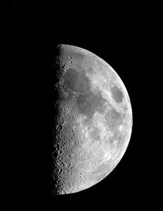 Waxing Half Moon by John Sanford