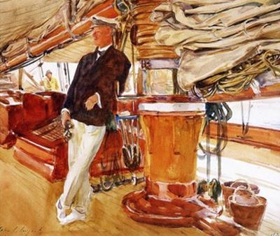On the Deck of the Yacht Constellation, 1924