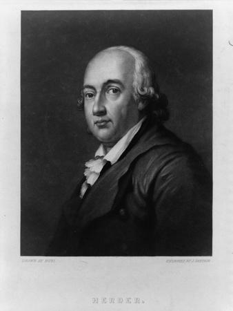 Portrait of Johann Gottfried Herder (1744-180), Between 1828 and 1880