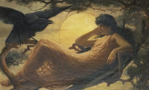 And the Night Raven Sings, Bosom'd High in the Tufted Trees, Where Perhaps Some Beauty Lies by John Scott