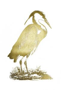 Gold Foil Heron I by John Selby