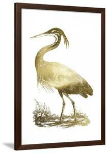 Gold Foil Heron II by John Selby