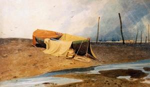 A Boat on the Beach by John Sell Cotman