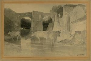Bridge and Cows, C.1803-04 by John Sell Cotman
