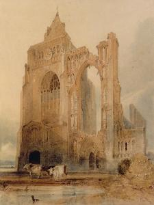 Croyland Abbey, Crowland by John Sell Cotman