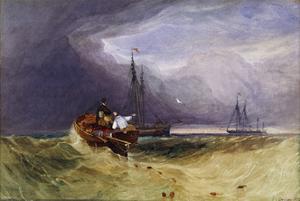Fishing Boats Off Yarmouth by John Sell Cotman