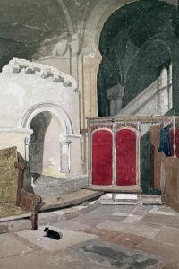 Interior of Norwich Cathedral, 19th Century by John Sell Cotman