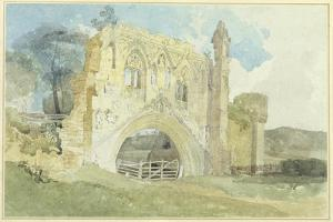 Kirkham Abbey, 1805-6 by John Sell Cotman
