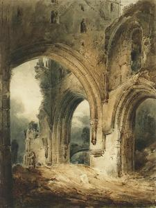Llanthony Abbey by John Sell Cotman