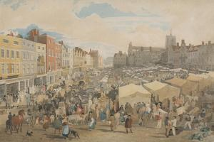 Norwich Market-Place by John Sell Cotman