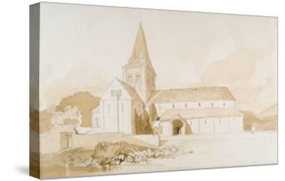Notre Dame Sur L'Eau, Domfront, Normandy, C.1820 (Brown Wash and Graphite on Paper)