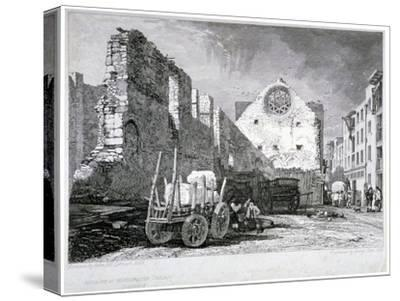Ruins of the Bishop of Winchester's Palace, Southwark, London, 1828