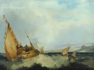 Shipping Off the Isle of Wight by John Sell Cotman